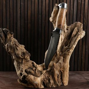 Нож охотничий «Каспий» Н73, ст. У10А-7ХНМ, рукоять дюраль, орех, 28 см