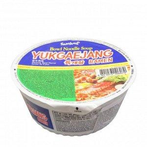 Лапша со вкусом говядины и свинины Yukgaejang ramen 86г
