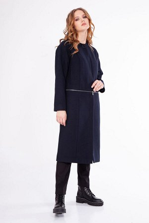 Пальто 91409-3990, Драповое пальто прямого силуэта