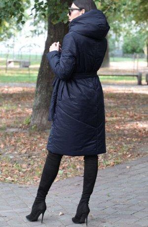 Зима-весна Стильное стеганное пальто с капюшоном,  из ткани с водоотталкивающим эффектом, на прохладную осень/ теплую зиму.  Уникальный бельгийский утеплитель ISOSOFT, который при практически не ощути