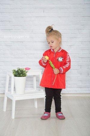 Детство 63ПП11 Плащ для девочек,  красный
