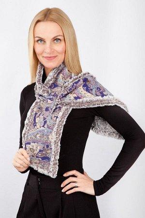 """Шарф женский """"Дублёнка-воротник"""" модель 036 фиолетовый огурчик"""
