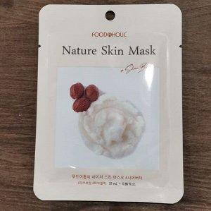 Тканевая маска для лица с маслом Ши 23мл BELOVE FOOD@HOLIC NATURE SKIN MASK SHEA BUTTER