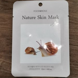Тканевая маска для лица с муцином улитки 23мл BELOVE FOOD@HOLIC NATURE SKIN MASK SNAIL
