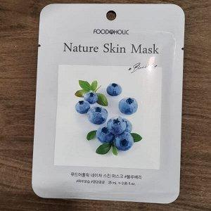 Тканевая маска для лица с экстрактом голубики 23мл BELOVE FOOD@HOLIC NATURE SKIN MASK BLUEBERRY