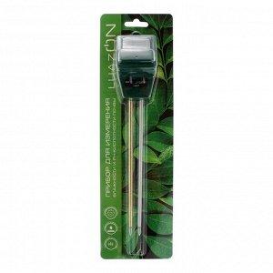 Прибор для измерения LuazON. влажность/pH/кислотность почвы. зеленый