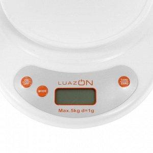 Весы кухонные LuazON LV 504, электронные, до 5 кг, МИКС