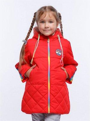 Радуга 12П24 Пальто для девочек,  красный