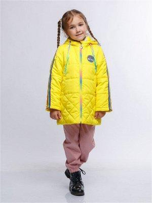 Радуга 12П24 Пальто для девочек, желтый