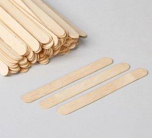 Шпатель для депиляции, деревянный, 14 × 1,5 см