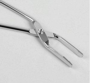 Пинцет в форме ножниц, прямой, цвет серебристый