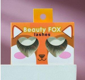 Накладные ресницы с клеем Beauty fox, объём 3D