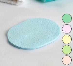 Спонж для умывания «Овал», 11,5  8,5 см, цвет МИКС