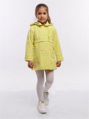 Элин 63ПП12 Плащ для девочек, лимонный