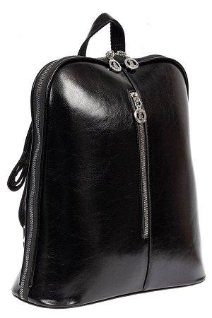 Рюкзак-трансформер женский из искусственной кожи, цвет чёрный