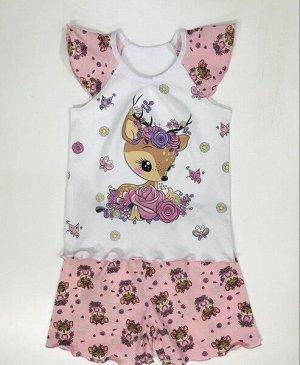 """Пижама для девочки """"оленёнок"""""""