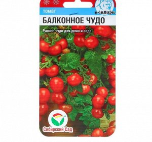 """Семена Томат """"Балконное чудо"""", ультраскороспелый, 20 шт"""
