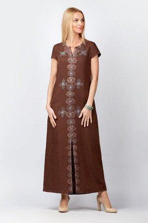 """Платье женское """"Лейла"""" модель 324/2 шоколад светлый"""