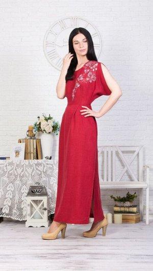 """Платье женское """"Бабочка"""" длинное модель 375/2 клюква"""