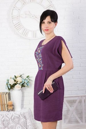 """Платье женское """"Бабочка"""" миди модель 376 фиолетовое"""