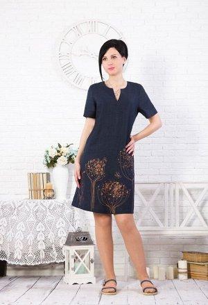"""Платье женское """"Вереск"""" модель 384/2 темно-синее"""