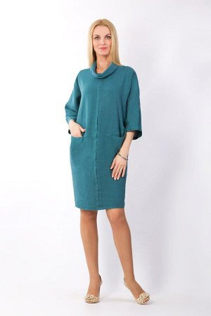 Платье женское Леди модель 377/4 морская волна