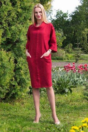 """Платье женское """"Леди"""" модель 377/6 клюква"""