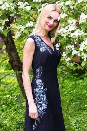 "Сарафан женский ""Афина Розочки"" модель 409/1 черный"