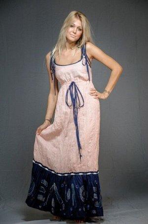 Сарафан женский на бретельках модель 304/2 красная полоска и темно-синий