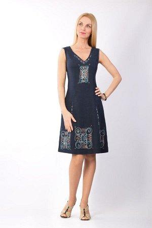 "Сарафан женский ""Маленькое платье"" модель 401/6 темно-синий"