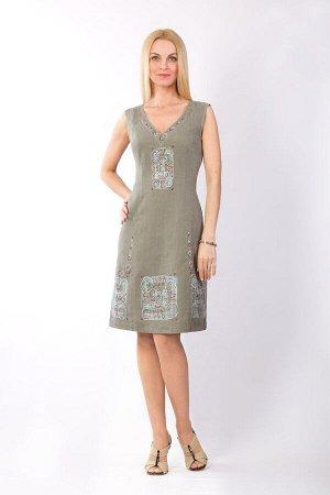 """Сарафан женский """"Маленькое платье"""" модель 401/4 хаки"""