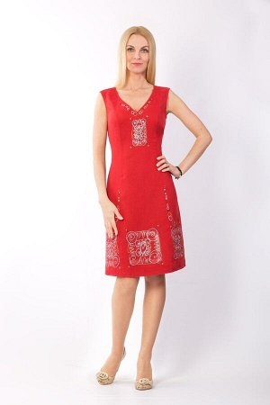 "Сарафан женский ""Маленькое платье"" модель 401/3 красный"