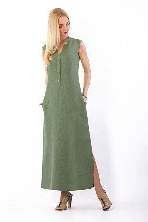Платье женское Верона длинное модель 321/3 светло-зеленое