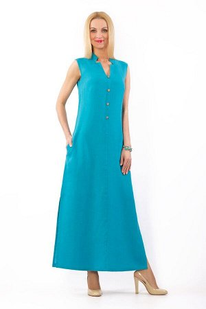 """Платье женское """"Верона"""" длинная модель 321/4 бирюза"""