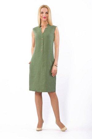 Платье женское Верона миди модель 322/4 светло-зеленое