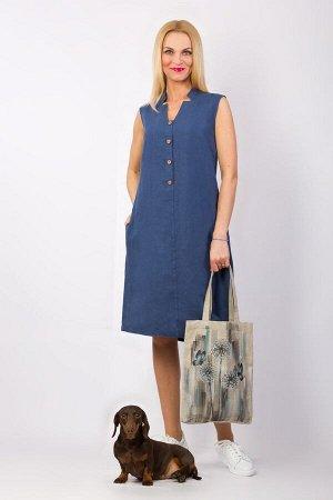 Платье женское Верона миди модель 322/1 джинс