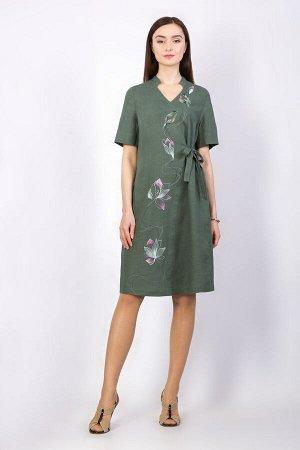"""Платье женское """"Мальта"""" миди модель 317/1 океан"""