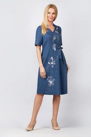"""Платье женское """"Мальта"""" миди модель 317/2 джинс"""