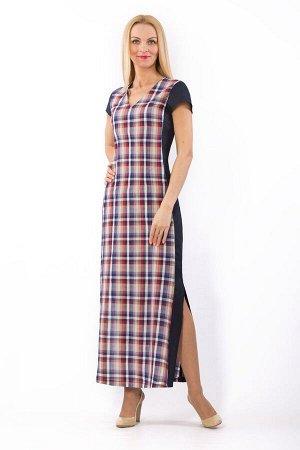 """Платье женское """"Калейдоскоп"""" модель 329/1 темно-синее"""