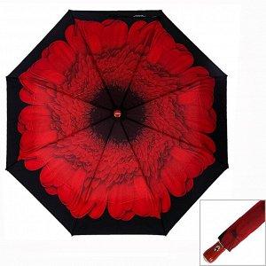 Зонт ЦВЕТ: красный,  Замеры модели* * рост указан приблизительно, ориентируйтесь на замеры *Размер 102 см ( диаметр купола 102 см) Яркий женский зонт с цветочным принтом, купол стандартного размера и