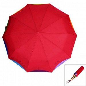 Зонт ЦВЕТ: красный,  Замеры модели* * рост указан приблизительно, ориентируйтесь на замеры *Размер 102 см ( диаметр купола 102 см) Стильный женский зонт с радужной окантовкой. Материал купола эпонж э