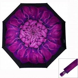 Зонт ЦВЕТ: фиолетовый,  Замеры модели* * рост указан приблизительно, ориентируйтесь на замеры *Размер 102 см ( диаметр купола 102 см) Яркий женский зонт с цветочным принтом, купол стандартного размер