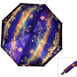 Зонт ЦВЕТ: фиолетовый,  Замеры модели* * рост указан приблизительно, ориентируйтесь на замеры *Размер 98 см ( диаметр купола 98 см) Стильный женский зонт с оригинальным рисунком, купол стандартного р