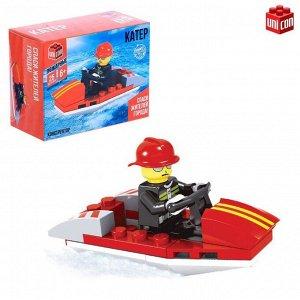 Конструктор «Пожарный катер», 25 деталей