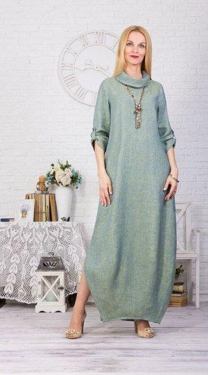 """Платье женское """"Соло"""" модель 378/2 мята меланж"""