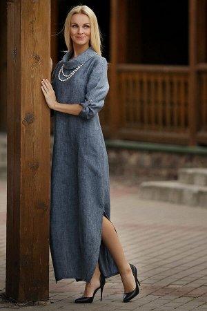 """Платье женское """"Соло"""" модель 378/4 джинс меланж"""