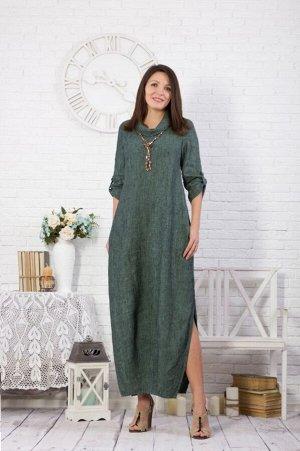 Платье женское Соло модель 378/5 зеленый меланж