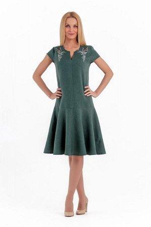 Платье женское Лайма модель 448/3 темный изумруд