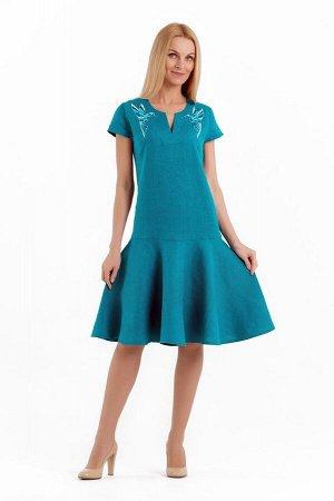Платье женское Лайма модель 448/1 морская волна