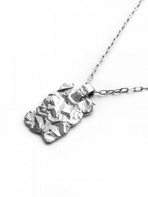 """Серебряное колье с прямоугольным медальоном """"Folio"""", 27*20 мм,"""
